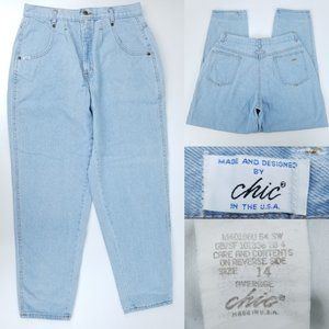 Vintage Chic Jeans High Waist Mom Jeans 14 30x30